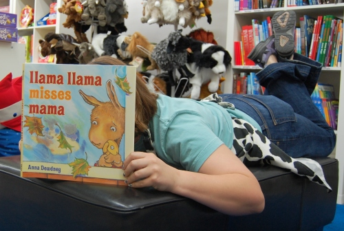 The long-awaited 'Llama Llama Misses Mama' by Anna Dewdney. (!!!)