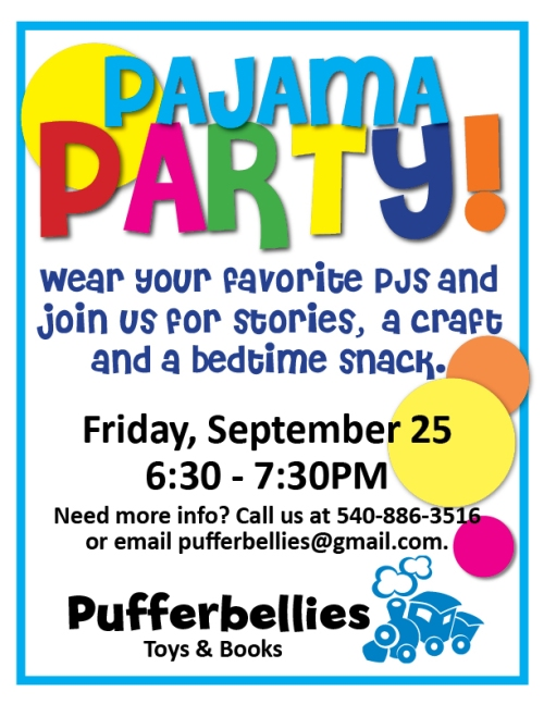 pajama party september 2009 flier