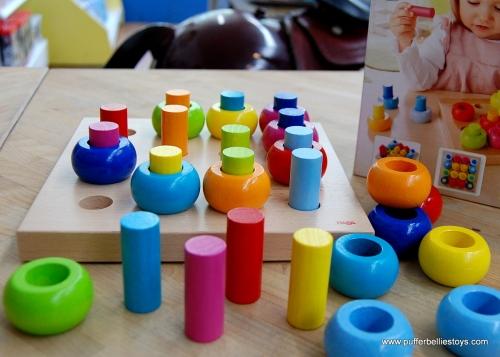 Rainbow Swirl Peg Game