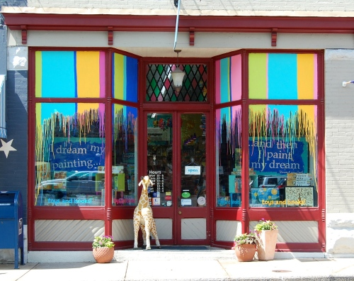 Early summer 2012 windows at Pufferbellies, inspired by art & Anthropologie