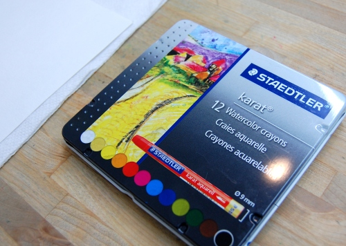 Our favorite watercolor crayons, from Staedtler