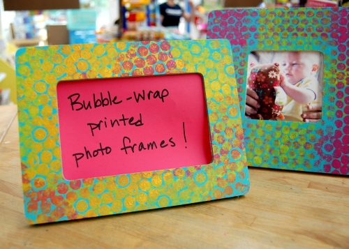 Bubble Wrap Printed Photo Frames
