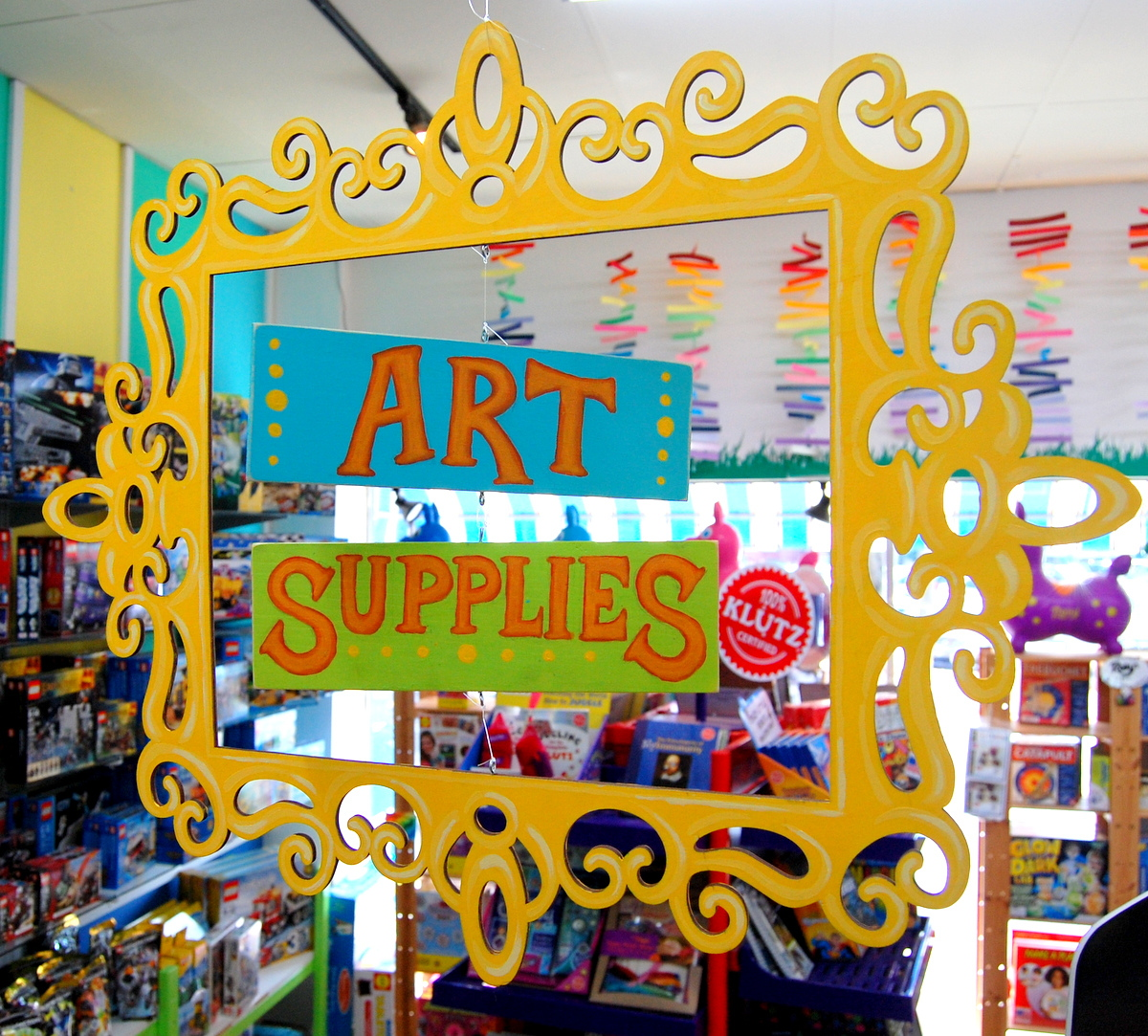 New Art Supplies Sign At Pufferbellies