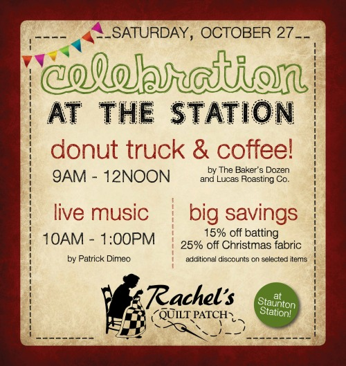 Celebration at the Station, Rachel's Quilt Patch