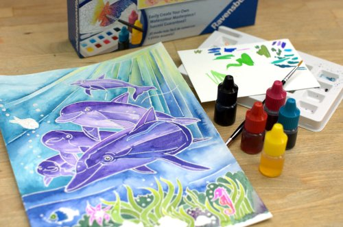 Aquarelle dolphin kit by Ravensburger