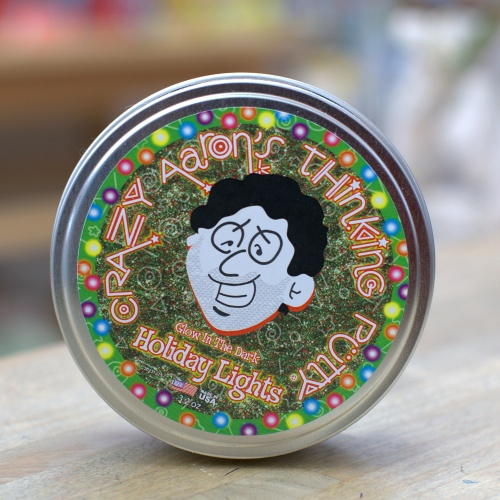 Holiday Lights Thinking Putty comes in a limited-edition tin.