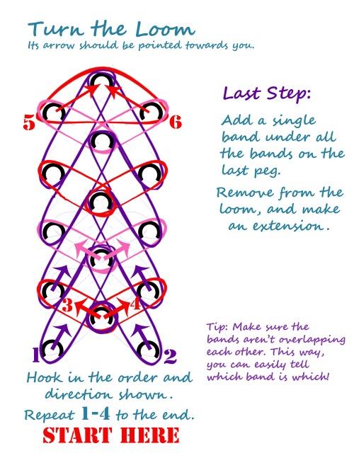 Rainbow Loom Heart Bracelet Instructions Page 2